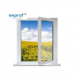 Окно ПВХ Exprof 600х600 мм одностворчатое ПО 3 стеклопакет