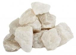Камень для бани Атлант Камень Кварц белый колотый в ведре 10 кг