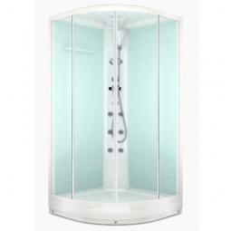 Душевая кабина Domani Spa Delight 110 1000x1000x2180 сатин матированное стекло, белая панель