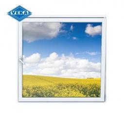 Окно ПВХ Veka 600х600 мм одностворчатое О 3 стеклопакет