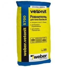 Ровнитель для пола Weber.Vetonit 5700 базовый 25 кг