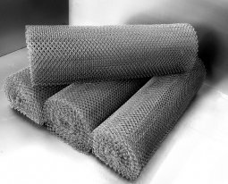 Сетка рабица d=1,2 мм, ячейка 25x25 мм, 1500x1000 мм, оцинкованная