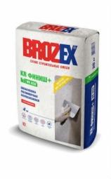 Шпатлевка Brozex KR Финиш+ WR-650 полимерная белоснежная 20 кг