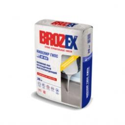Наливной пол Brozex Нивелир Гипс безусадочный быстротвердеющий на гипсовой основе 20 кг