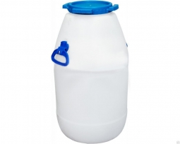 Бидон Тара пластиковый белый (D192) 51 литр
