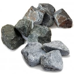 Камень для бани Огненный камень Микс:Кварцит Дунит Талькохлорит в коробке 30 кг
