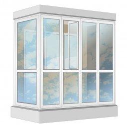 Остекление балкона ПВХ Exprof в пол с отделкой ПВХ-панелями с утеплением 2.4 м Г-образное