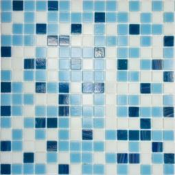Мозаика Elada Aventurin HK-14 бело-голубой микс 32.7x32.7