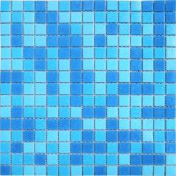 Мозаика Elada Econom на сетке MC107 голубая 32.7x32.7